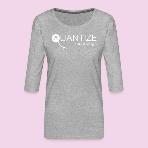 Quantize White Logo - Women's Premium 3/4-Sleeve T-Shirt