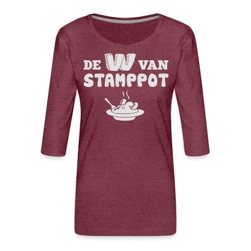 De W van Stamppot - Vrouwen premium shirt 3/4-mouw