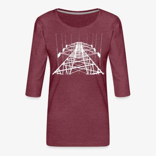 Strommast weiß - Frauen Premium 3/4-Arm Shirt