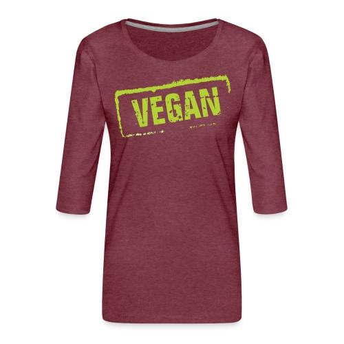 Vegan - Vrouwen premium shirt 3/4-mouw