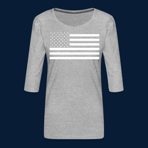 Stars and Stripes White - Frauen Premium 3/4-Arm Shirt