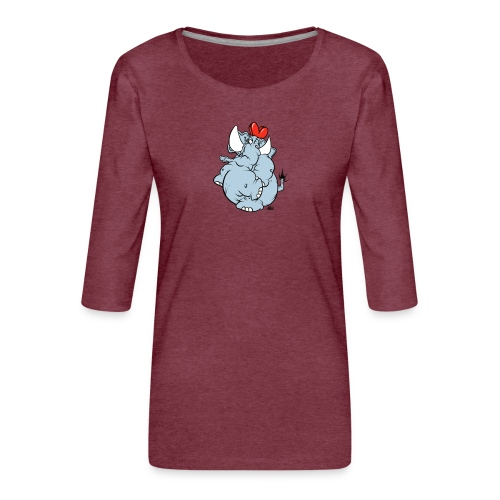 Sötofant - Premium-T-shirt med 3/4-ärm dam