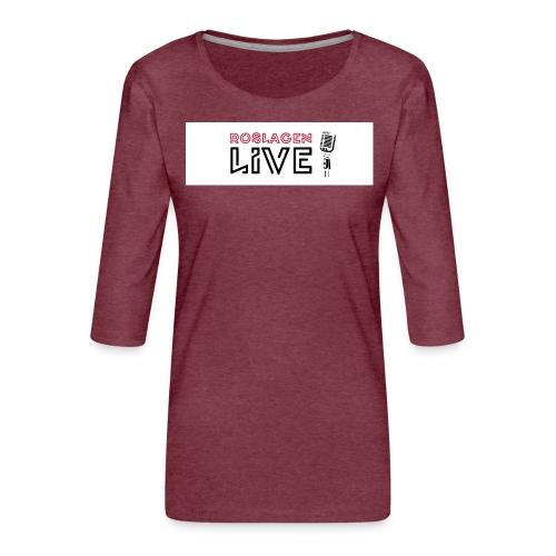 Roslagen Live - Premium-T-shirt med 3/4-ärm dam