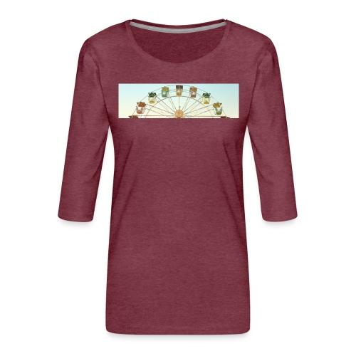 header_image_cream - Women's Premium 3/4-Sleeve T-Shirt