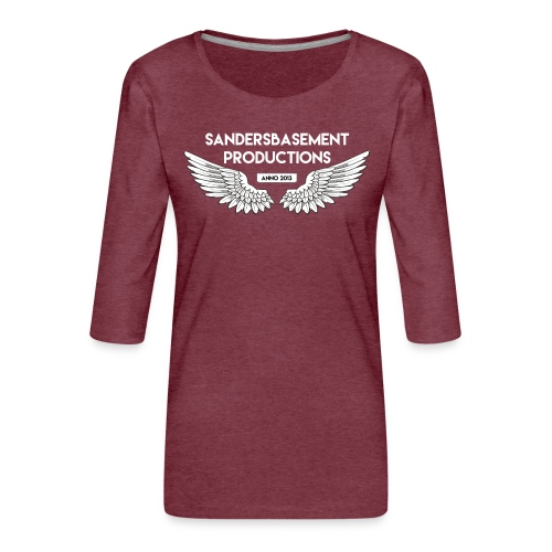 T SHIRT logo wit png png - Vrouwen premium shirt 3/4-mouw