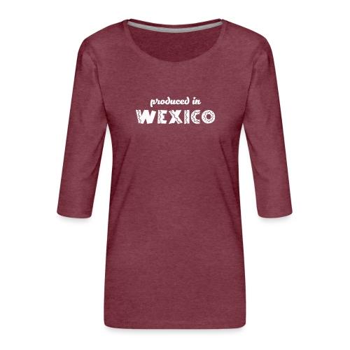 Wexico White - Women's Premium 3/4-Sleeve T-Shirt