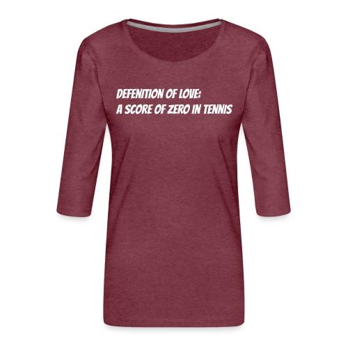 Tennis Love sweater men - Vrouwen premium shirt 3/4-mouw