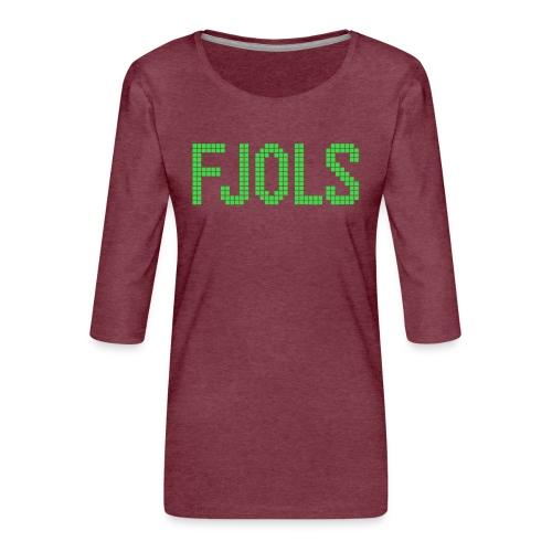 FJOLS Grøn - Dame Premium shirt med 3/4-ærmer