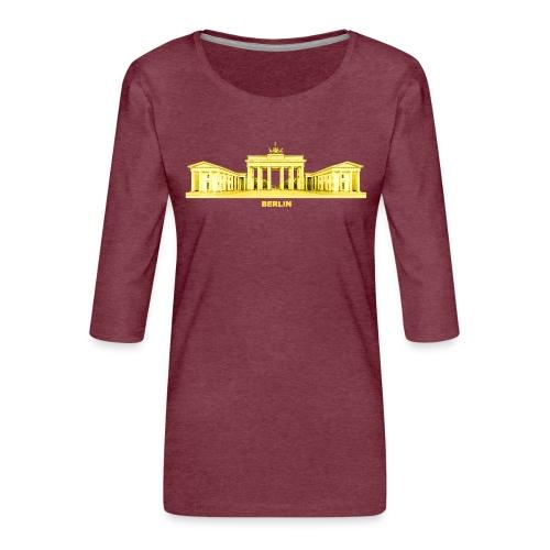 Berlin Brandenburger Tor Hauptstadt Deutschland - Frauen Premium 3/4-Arm Shirt