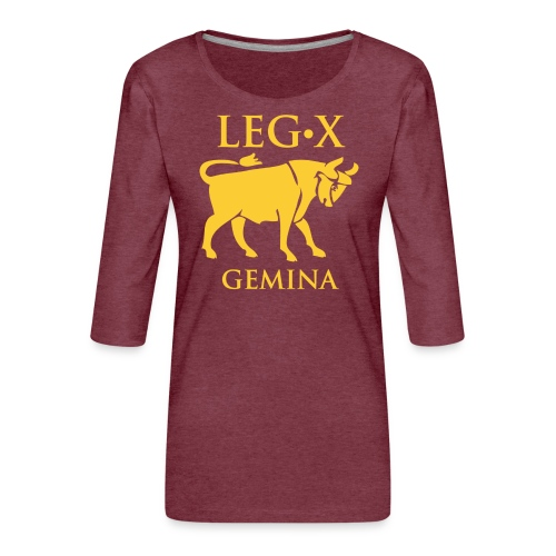 leg_x_gemina - Maglietta da donna premium con manica a 3/4