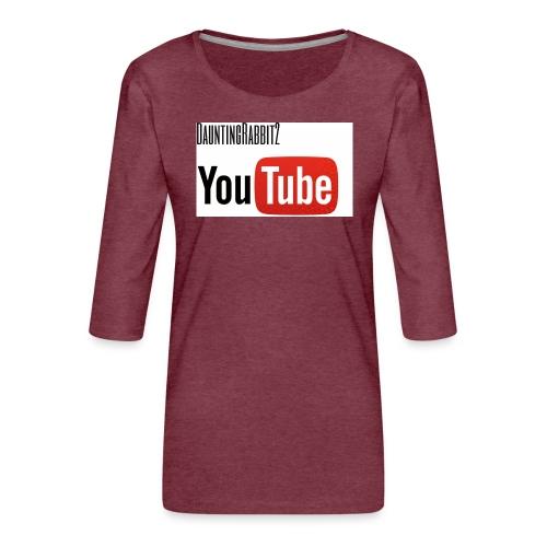 DauntingRabbit2 - Premium-T-shirt med 3/4-ärm dam
