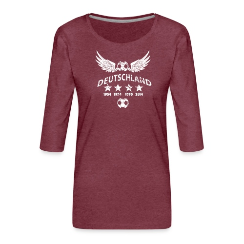 Germany football 2018 - Frauen Premium 3/4-Arm Shirt