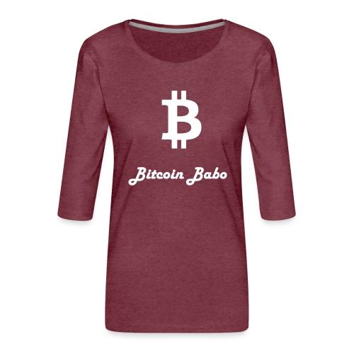 Bitcoin Babo - Frauen Premium 3/4-Arm Shirt
