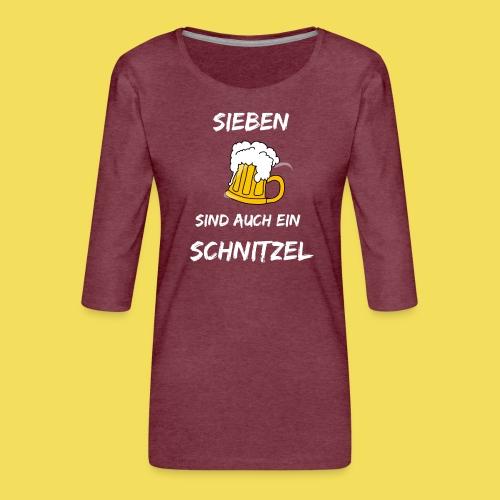 Sieben Bier - weiß - Frauen Premium 3/4-Arm Shirt