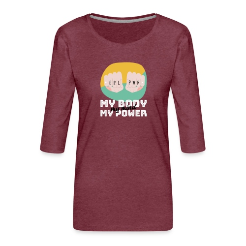 t shirt design template for womens day featuring - Camiseta premium de manga 3/4 para mujer