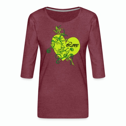 Green Love - Frauen Premium 3/4-Arm Shirt