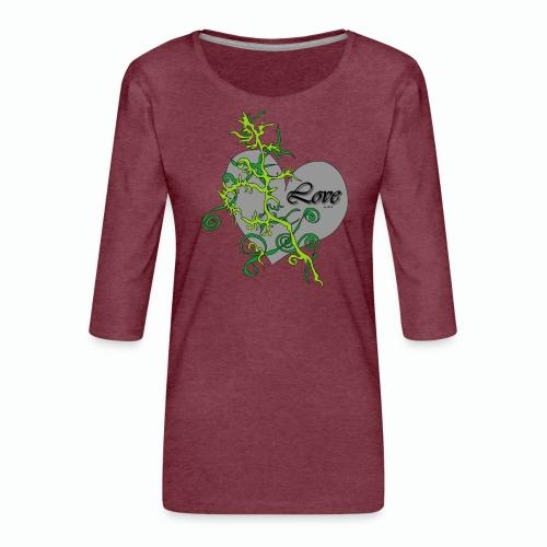 Grey Love - Frauen Premium 3/4-Arm Shirt