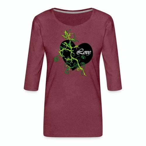 Black Love - Frauen Premium 3/4-Arm Shirt