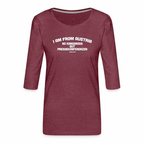Pressekonferenzen - Frauen Premium 3/4-Arm Shirt
