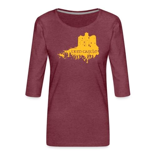 Legend_-_Trim_Castle - Women's Premium 3/4-Sleeve T-Shirt