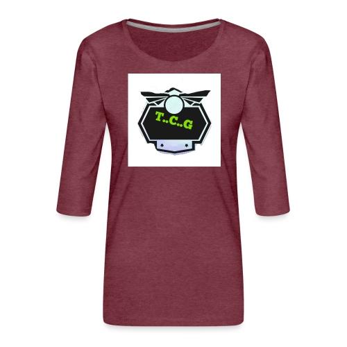 Cool gamer logo - Women's Premium 3/4-Sleeve T-Shirt