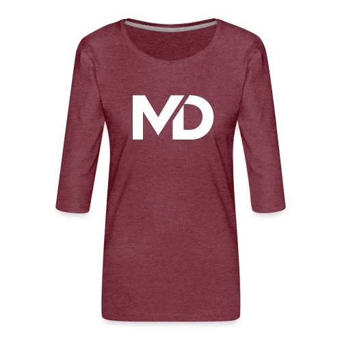 MD Clothing Official© - T-shirt Premium manches 3/4 Femme