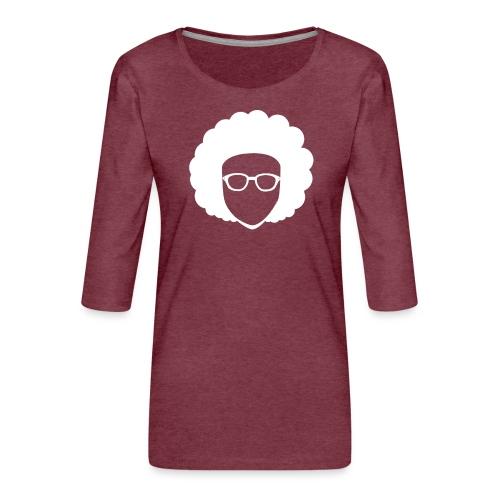 Afro Nerd - nerdy - Women's Premium 3/4-Sleeve T-Shirt