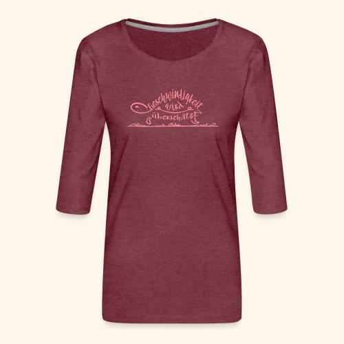 Mein Tempo - Schildkröte - Frauen Premium 3/4-Arm Shirt