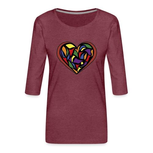 cuore di vetro - Maglietta da donna premium con manica a 3/4