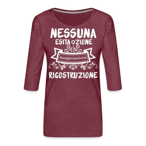 patch ricostruzione Poggio Casoli - Maglietta da donna premium con manica a 3/4