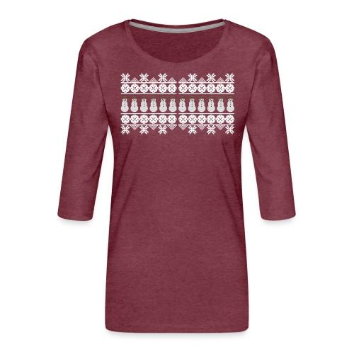 Ugly Christmas Weihnachten Xmas Norweger Design - Frauen Premium 3/4-Arm Shirt