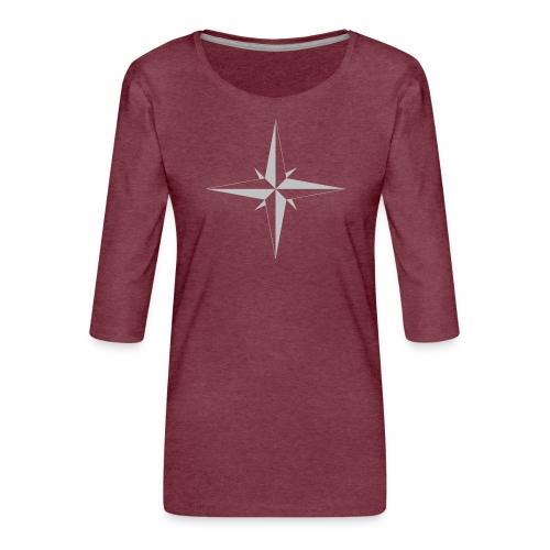 Compas Rose - Dame Premium shirt med 3/4-ærmer