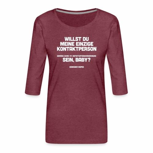 Kontaktperson - Frauen Premium 3/4-Arm Shirt