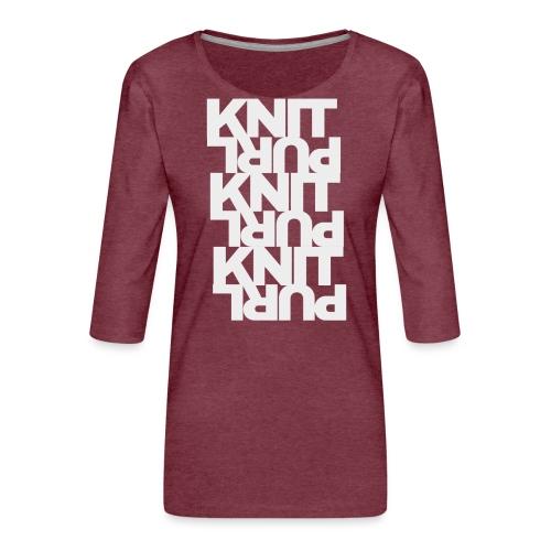 St st, light - Women's Premium 3/4-Sleeve T-Shirt