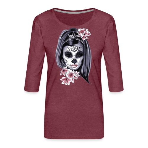 Mujer Mexicana - Camiseta premium de manga 3/4 para mujer