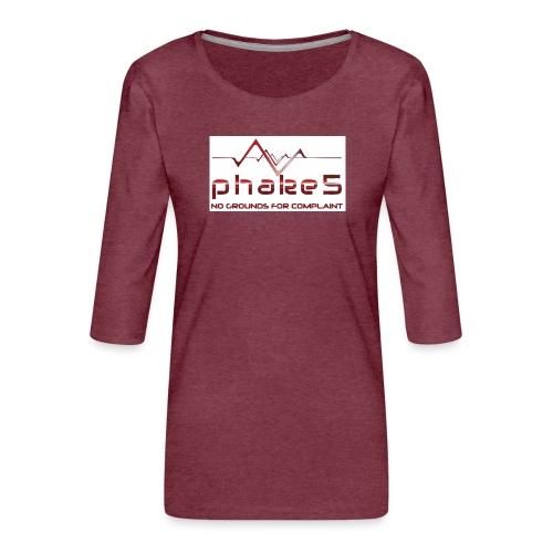 logo - Premium-T-shirt med 3/4-ärm dam