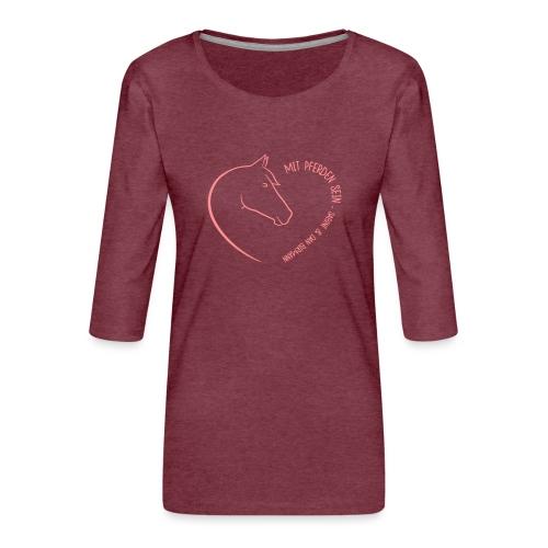Coeur Closeness - Frauen Premium 3/4-Arm Shirt
