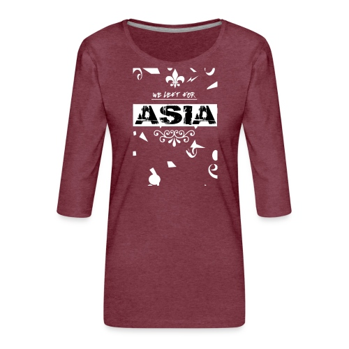 BACK 2 3 png - Vrouwen premium shirt 3/4-mouw