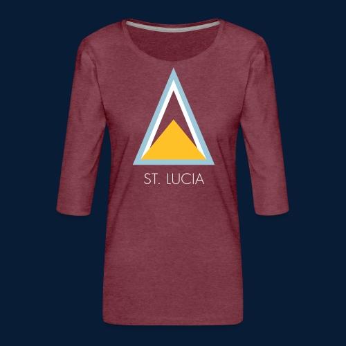 St. Lucia - Frauen Premium 3/4-Arm Shirt