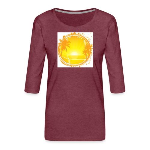 Sunburn - Women's Premium 3/4-Sleeve T-Shirt