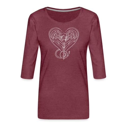 Sphinx valentine white - Women's Premium 3/4-Sleeve T-Shirt