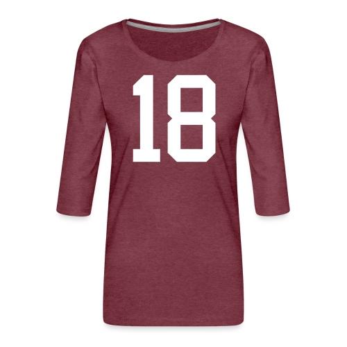 18 MÜLLER Johann - Frauen Premium 3/4-Arm Shirt