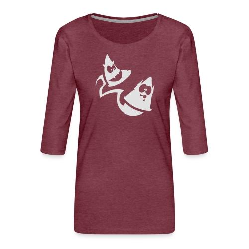 Conos diabolicos con estela - Camiseta premium de manga 3/4 para mujer
