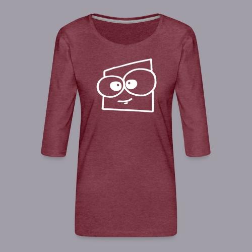 quadra_freundlich_w - Frauen Premium 3/4-Arm Shirt