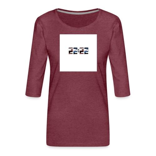 22:22 buttons - Vrouwen premium shirt 3/4-mouw