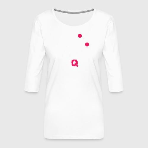 T-shirt FUQU logo colore bianco - Maglietta da donna premium con manica a 3/4