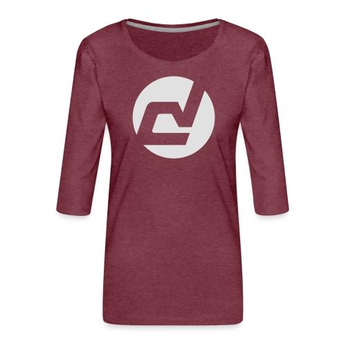 logo blanc - T-shirt Premium manches 3/4 Femme