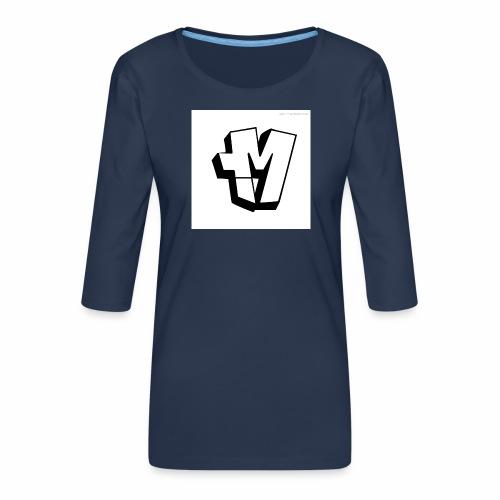 graffiti alphabet m - Women's Premium 3/4-Sleeve T-Shirt