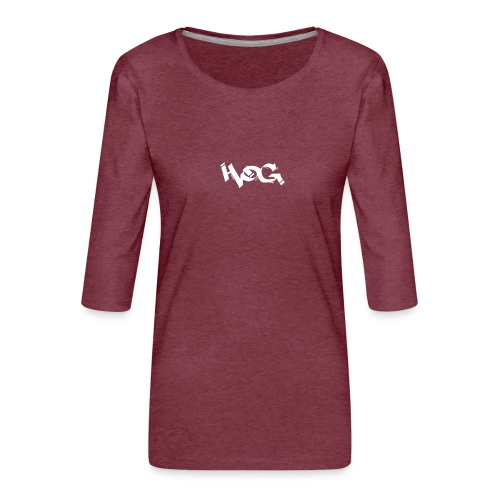 Hog - Camiseta premium de manga 3/4 para mujer