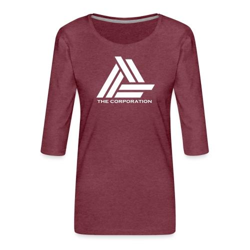 wit metnaam keertwee png - Women's Premium 3/4-Sleeve T-Shirt